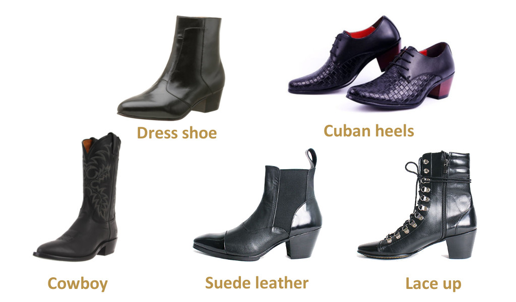 High heel shoes for men fall 2016