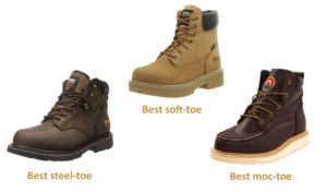 best work boots for men steel soft moc toe 2016