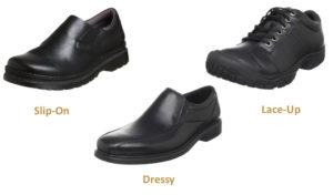 men work shoes reail nurse teacher dressy slip-on laces