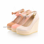 Womens High Heels Wedge Platform Shoes Sandals Ankle Strap
