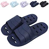 af1a22b60b11 Shower Sandal Slippers with Drainage Holes Quick Drying Bathroom Slippers  Gym Slippers Soft Sole Open Toe House Slippers for Men and Women