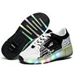 LYLIFE Boys Girls Light up Roller Shoes with Wheels Skate Sneakers for Kids Youth
